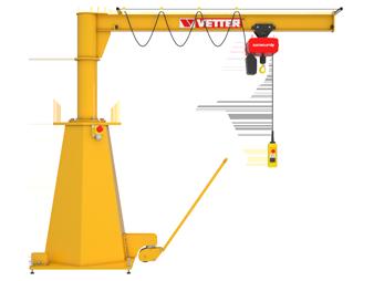Mobile slewing jib crane MOBILUS MOB