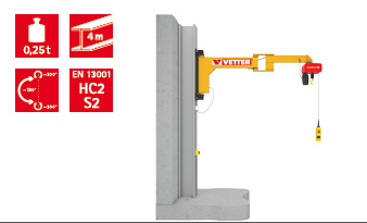 Wall-mounted slewing jib crane BOY BW