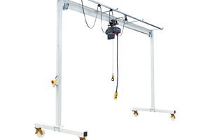 Przestawna wciągarka bramowa z elektrycznym wciągnikiem łańcuchowym